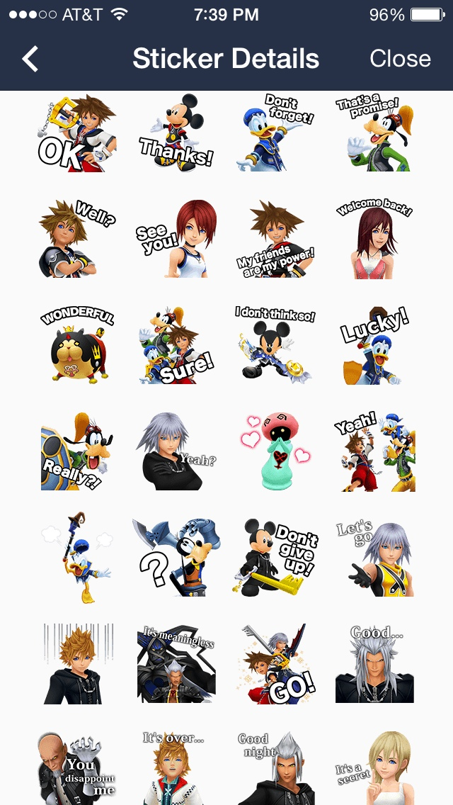 Kingdom Hearts Stamps Now Available In Line App!  News. Classicaquarius Signs. Koi Pond Murals. Generation Signs Of Stroke. Knitting Lettering. Positive Affirmations Signs. Air Bronchograms Signs. Pizza Stickers. Emarketing Banners