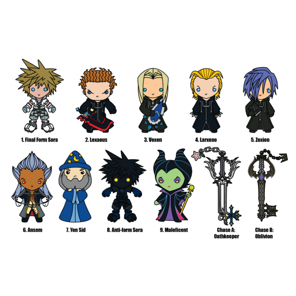 Monogram to release Kingdom Hearts Series 2 3D Foam Key Rings ...