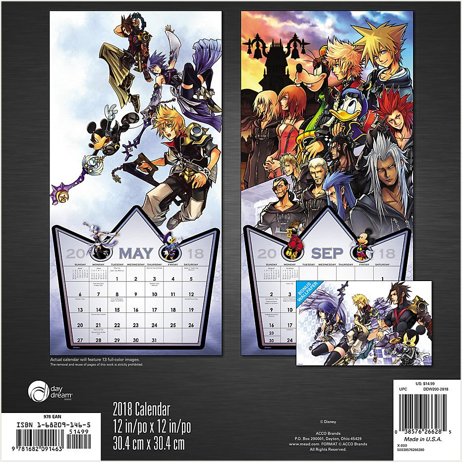 Keep track of your days with this 2018 Kingdom Hearts wall ...