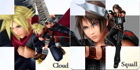Kingdom Hearts Cloud and Leon Outfits Found in Dissidia Final