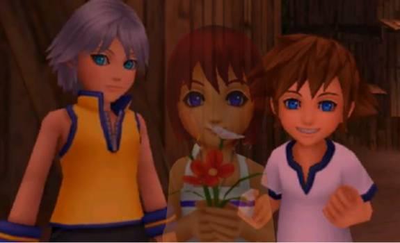 Kingdom hearts sora and kairi and roxas and namine drawing