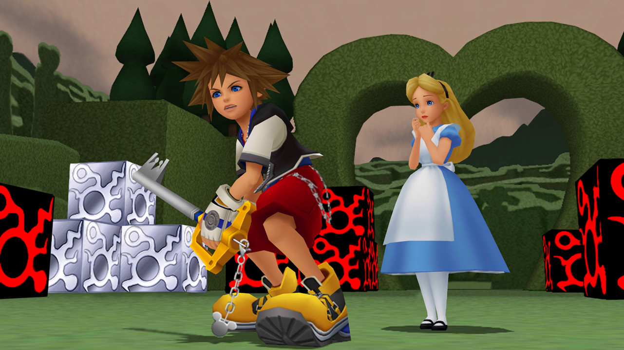 Square Enix Tokyo Game Show 2014 KH2.5 Re Coded Wonderland Data Sora and Alice