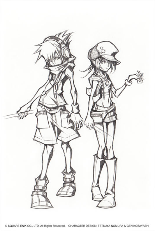 concept art - the world ends with you